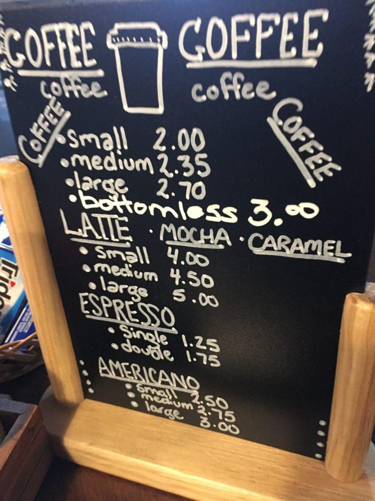 Forestburgh General Coffee Menu