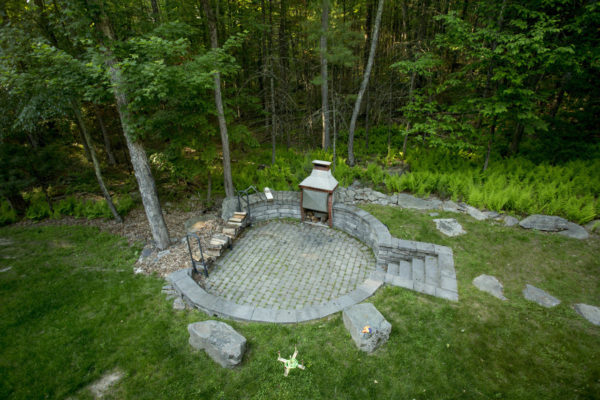 Outdoor Stone Grill Patio